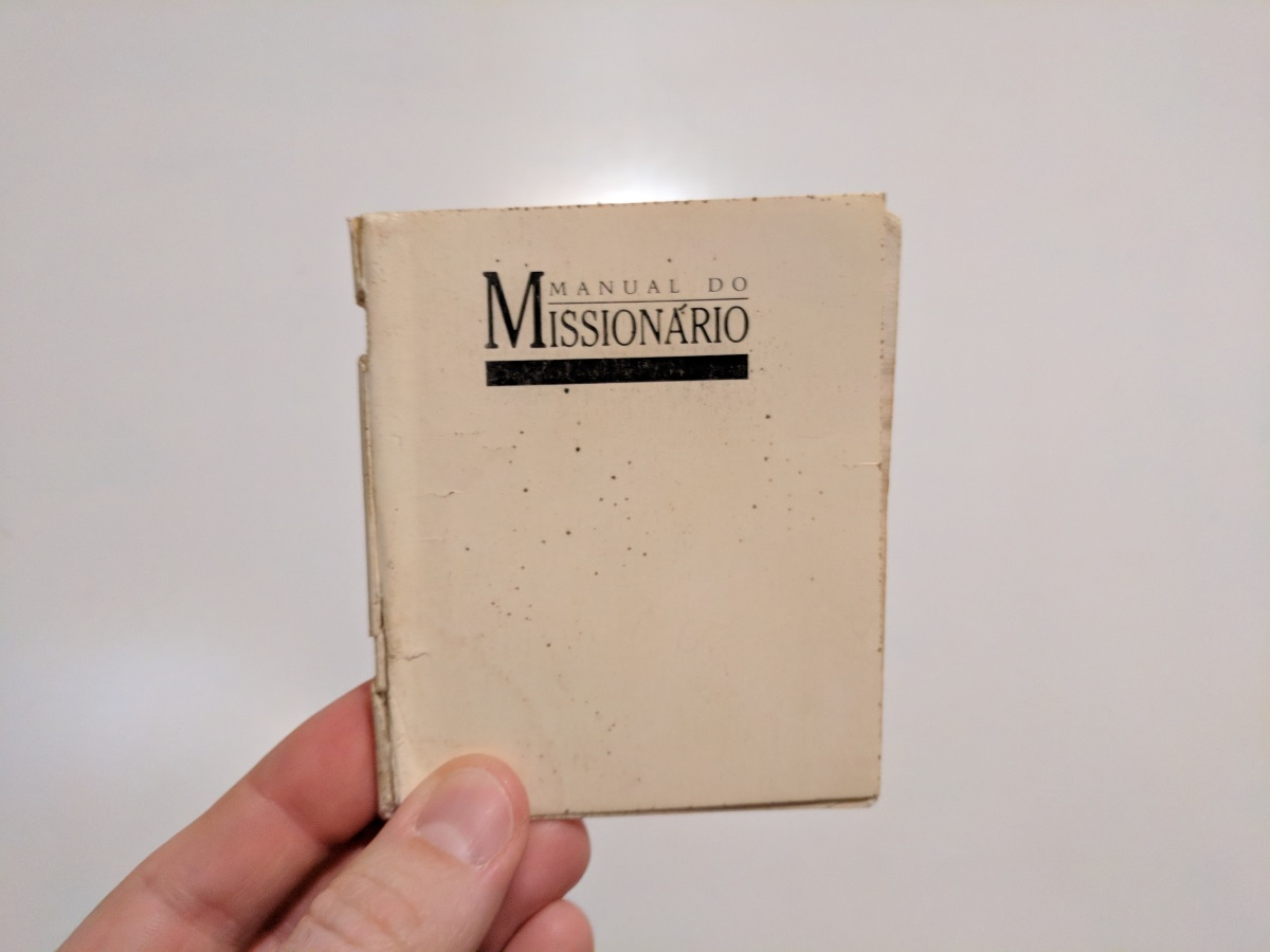photo of Mormon White Bible; cover