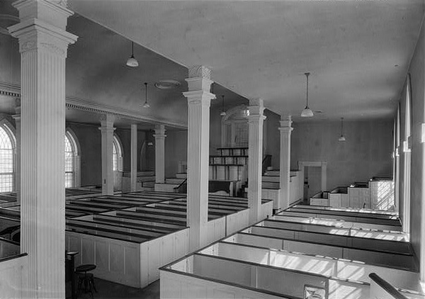 The main meeting hall of the Kirtland, Ohio Temple